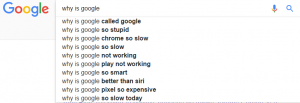 """Why is Google"" google search"