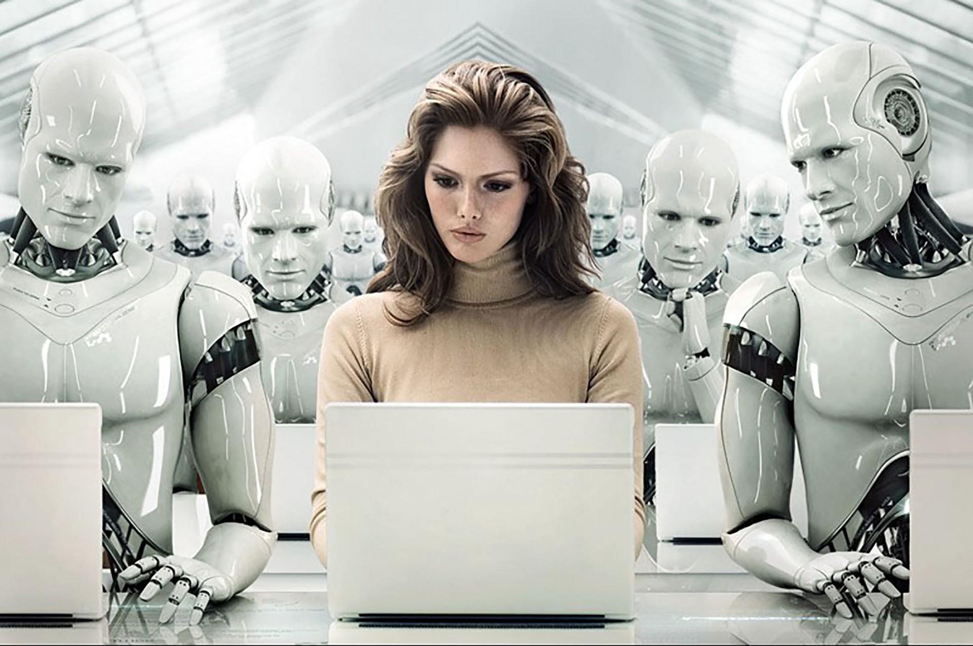 human-among-robots