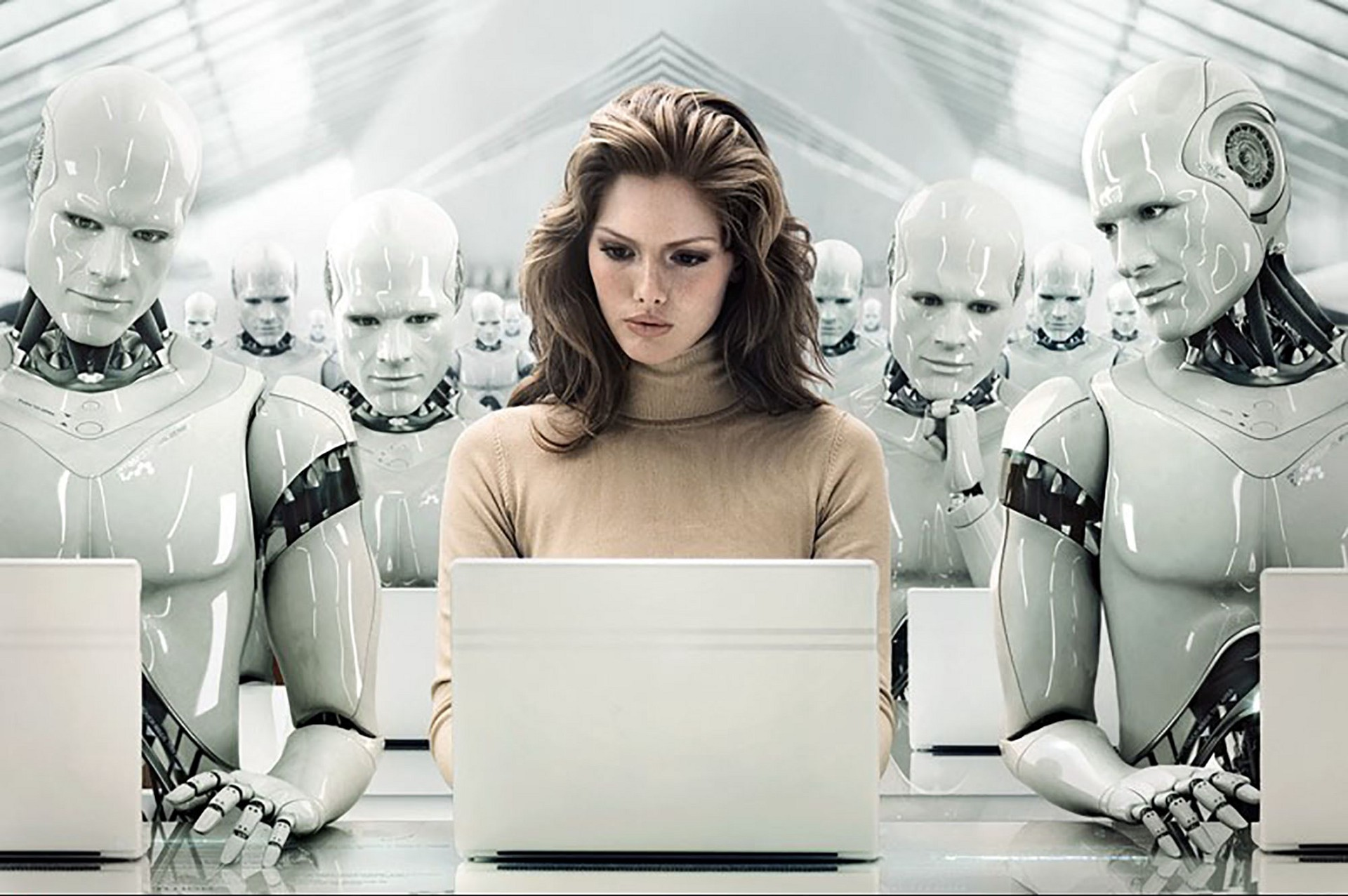 Image result for people and robots