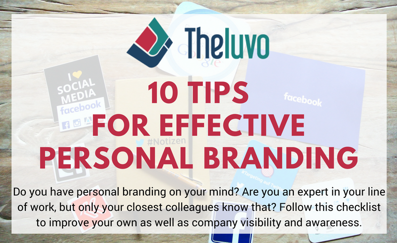 10 Tips for Effective Personal Branding (Infographic)