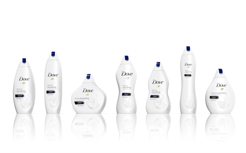 dove women shaped packaging