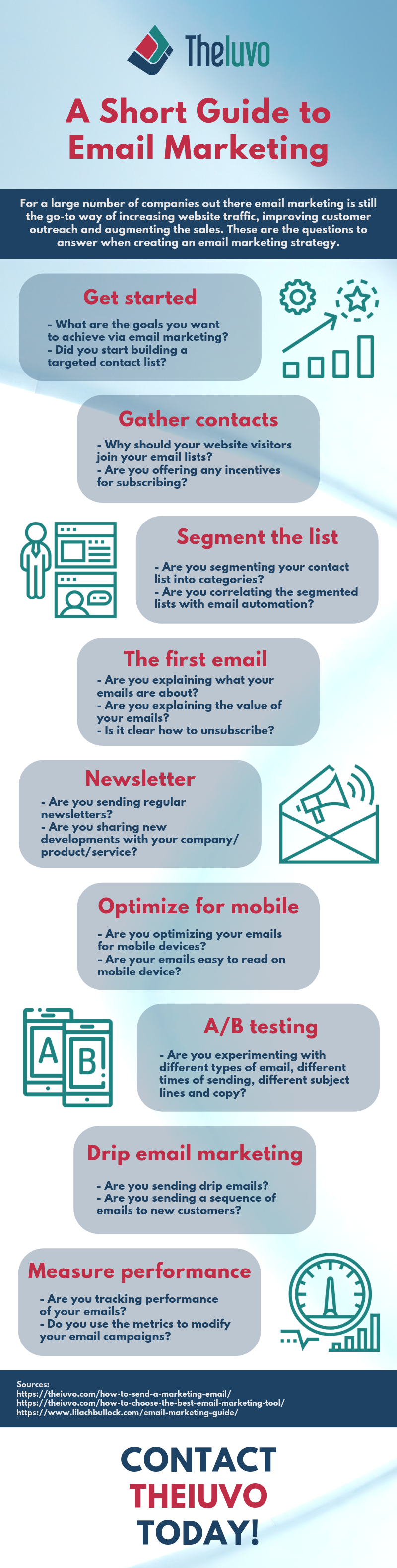 A Short Guide to Email Marketing infographic
